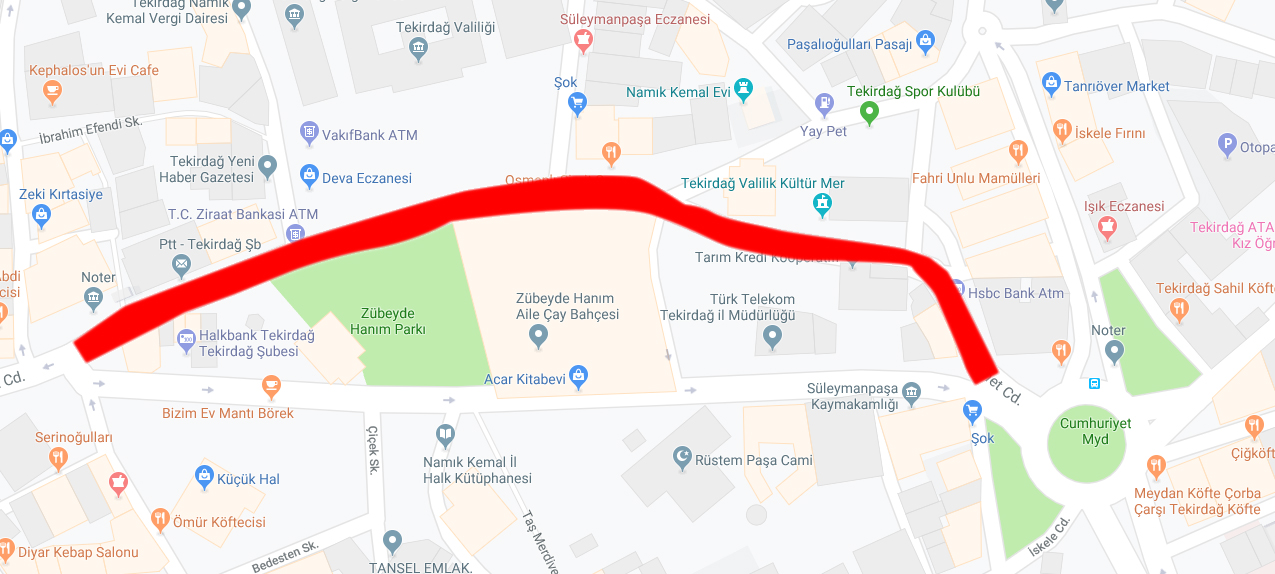 O Cadde Trafiğe Kapatılacak