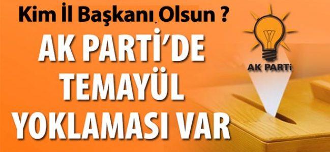 AK Parti'de İl Başkanı Kim Olacak ?